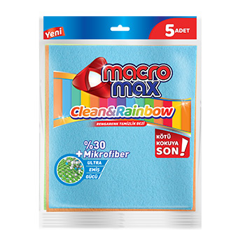 CLEAN & RAINBOW MOST COLORFUL CLEANING RAG  X5