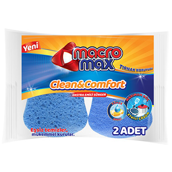 CLEAN & COMFORT EXTRA ABSORBENT GROOVED SPONGE X2